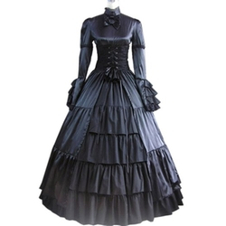Fancy Dress Store - Stand Collar Gothic Victorian Dress