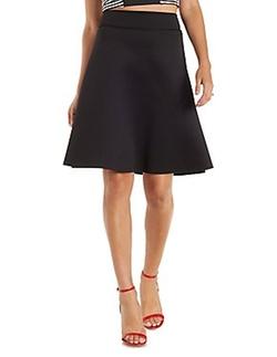 Charlotte Russe - Scuba Knit Full Midi Skirt