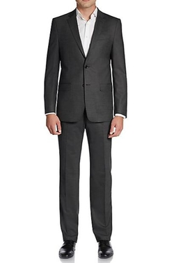 Versace Collection  - Regular-Fit Stretch Virgin Wool Suit