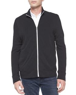 James Perse  - Full-Zip Slub Knit Jacket