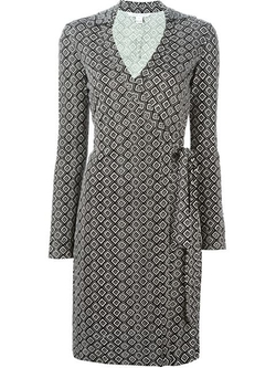 Diane Von Furstenberg - Square Print Wrap Dress