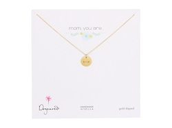 Dogeared - Mom You Are Loved Disc Necklace