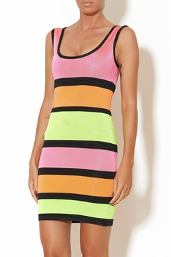 Wow Couture - Multicolor Stripe Dress