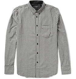 Rag & Bone - Button-Down Collar Gingham Cotton-Flannel Shirt
