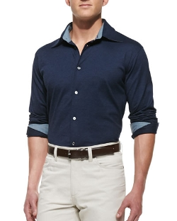 Ermenegildo Zegna - Pique Button-Down Shirt