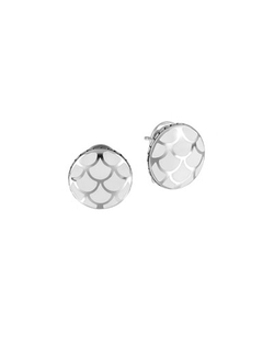 John Hardy  - Naga Silver Button Earrings