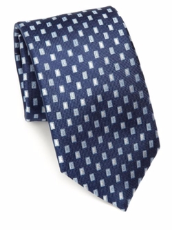 Saks Fifth Avenue Collection - Floating Squares Silk Tie