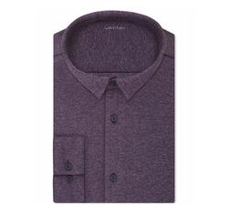 Calvin Klein  - Slim-Fit Infinite Stretch Knit Dress Shirt