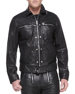 Diesel - Bunmi Sheepskin-Leather Motorcycle Jacket