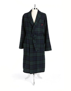Polo Ralph Lauren  - Belted Plaid Cotton Robe