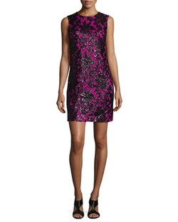 Diane Von Furstenberg  - Sleeveless Floral Shift Dress