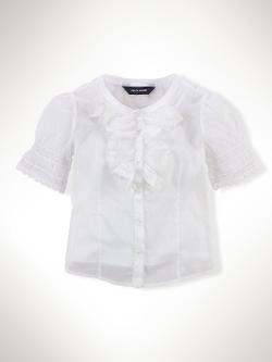 Ralph Lauren - Organdy Ruffled Blouse