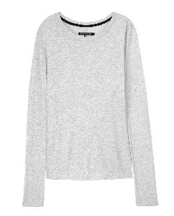 Rag & Bone - CLASSIC LONG SLEEVE TEE - LIGHT GREY