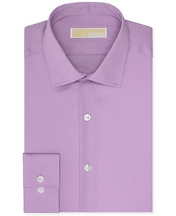 MICHAEL Michael Kors  - Non-Iron Slim-Fit Twill Solid Dress Shirt