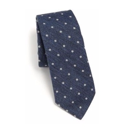 Brunello Cucinelli - Dotted Cotton Tie