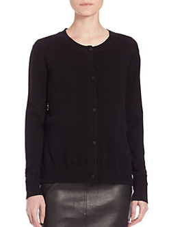 Saks Fifth Avenue Collection - Wool/Cashmere Lace-Panel Cardigan