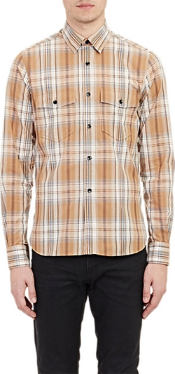 Saint Laurent - Madras Plaid Shirt