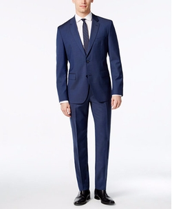 Hugo Boss - Extra Slim-Fit Blue Tic-Weave Suit