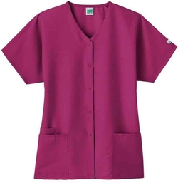 Fundamentals - Snap Front Scrub Top