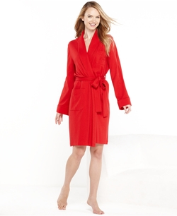 Lauren Ralph Lauren - Quilted Shawl Collar Short Robe