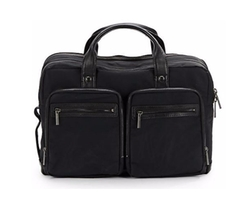 Kenneth Cole  - Leather-Trimmed Soft Convertible Briefcase