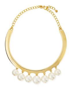 Kenneth Jay Lane - White Pearly Beaded Collar