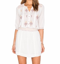 Hoss Intropia - Embroidered Peasant Dress