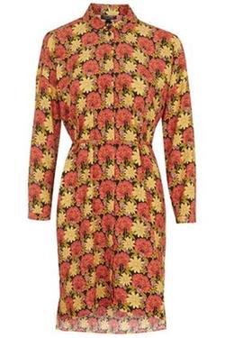 Topshop - Marigold Print Belted Shirt Dress