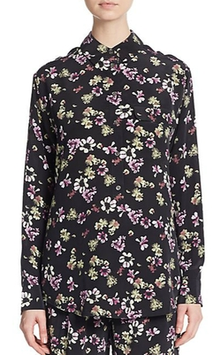 Equipment  - Garret Floral-Print Silk Blouse
