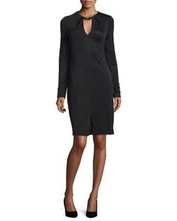 Halston Heritage - Long-Sleeve Sheath Dress