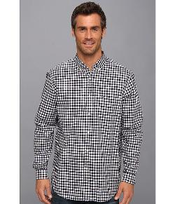 Lacoste  - Long Sleeve Button Down Gingham Check Woven Shirt