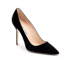 Manolo Blahnik - BB 105 Suede Point-Toe Pumps