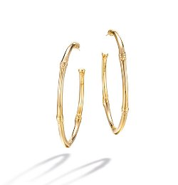 Bamboo Collection  - Large Hoop Earrings