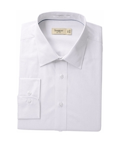 Haggar - Regular-Fit Poplin Solid Long-Sleeve Dress Shirt