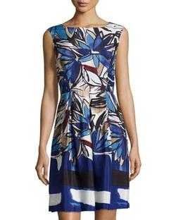 Donna Morgan - Floral-Print Sleeveless V-Back Dress,