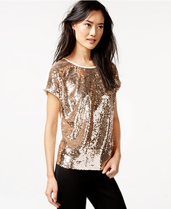 Bar III  - Sequined Top