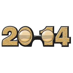 Shindigz - 2014 Gold Glitter Glasses New Years Eve Favors