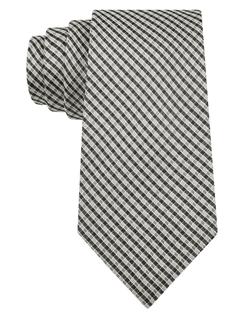 Black Brown 1826 - Silk Check Tie