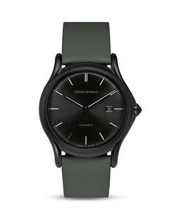 Emporio Armani Swiss Made - Green Rubberized Leather Watch