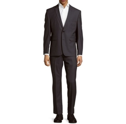 Vince Camuto - Wool Buttoned Slim-Fit Suit