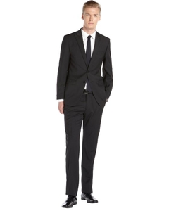 T Tahari  -  Multi Stripe Modern Fit Wool Suit