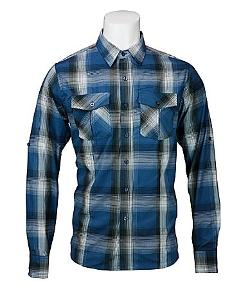 Sovereign Code  - Fade Plaid Button-Down Shirt