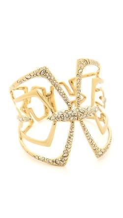 Alexis Bittar - Encrusted Mirrored Hinge Bracelet
