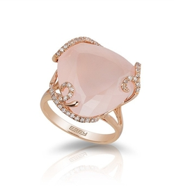 Effy Jewelry - Rose Gold Diamond and Rose Quartz Ring