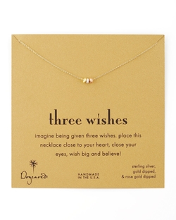 Dogeared - Three Wishes Pendant Necklace