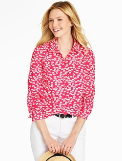 Talbots - Print Cotton Shirt