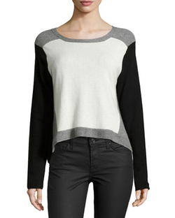 Nicole Miller Artelier - Colorblock Cashmere Sweater