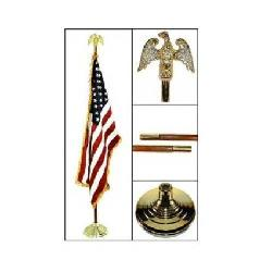 US Flag Store - Indoor American Flag Flagpole Base and Tassel