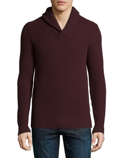 Michael Kors  - Shawl-Collar Cashmere-Blend Sweater