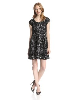 Jessica Simpson -  Esther Cap Sleeve Printed Dress